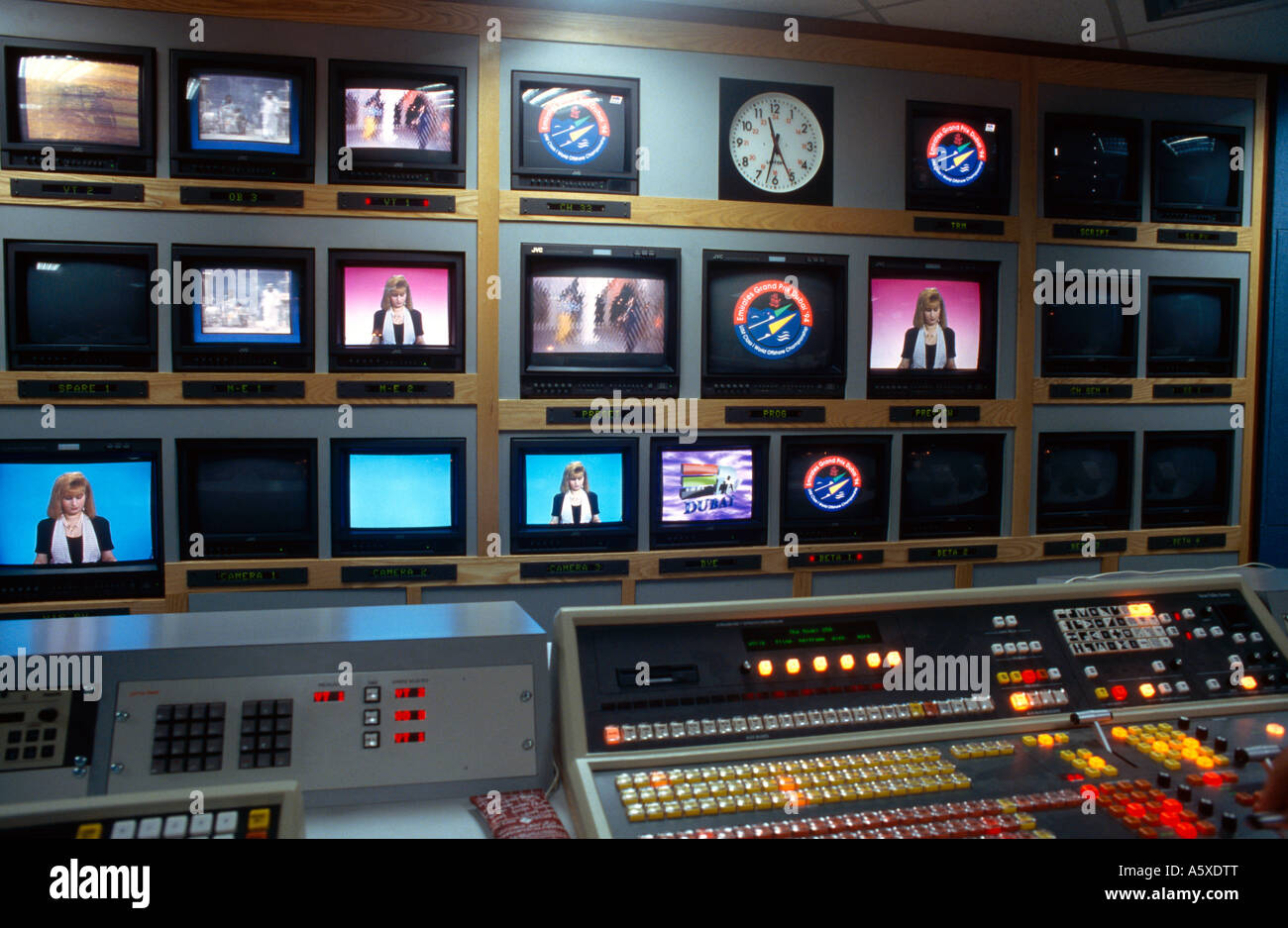 Dubai UAE News Broadcast Television Satellite Channel Control Room ...
