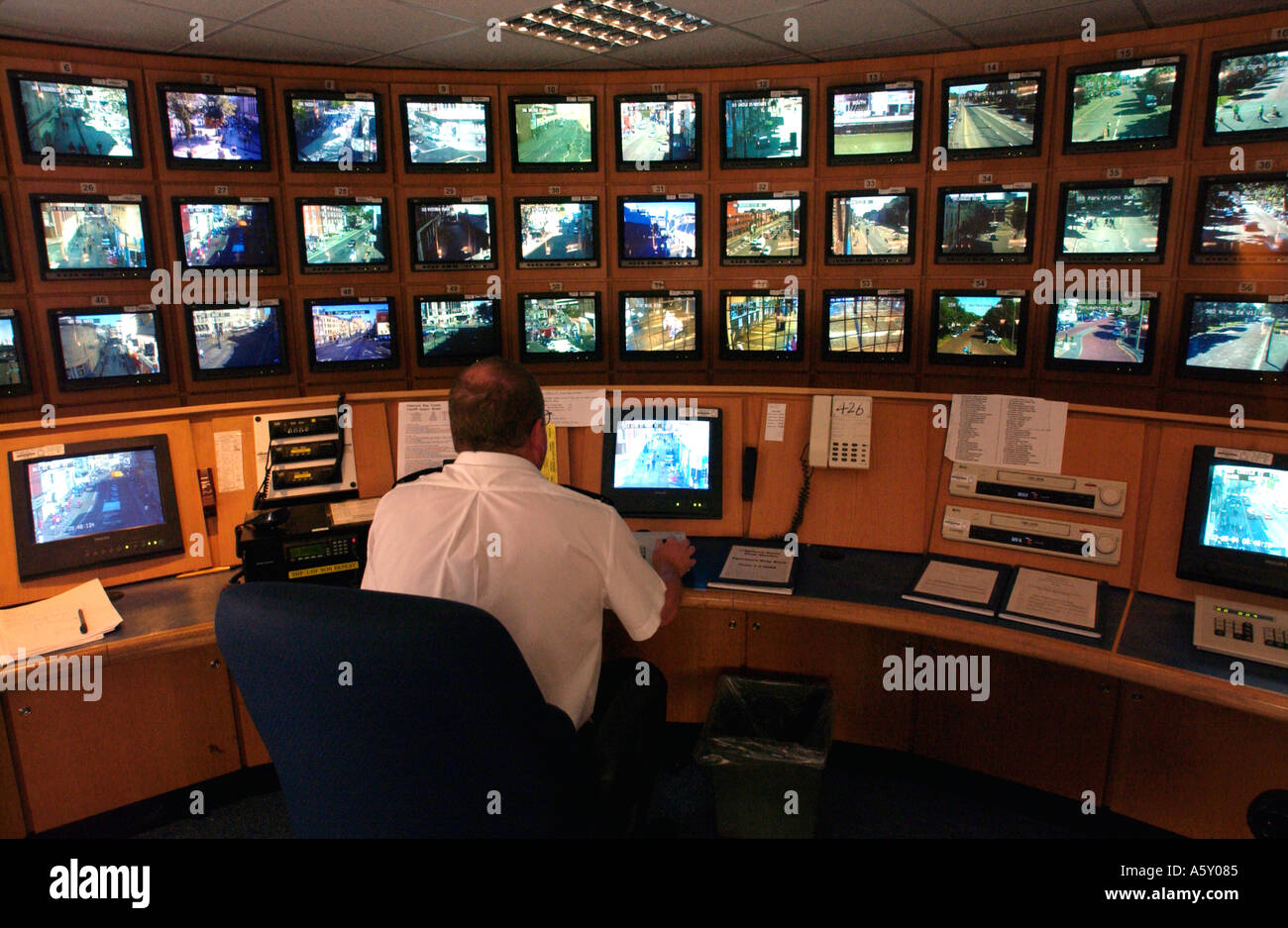 Peachy Cctv Control Room Tv Screens Britain Uk Stock Photo Royalty Largest Home Design Picture Inspirations Pitcheantrous