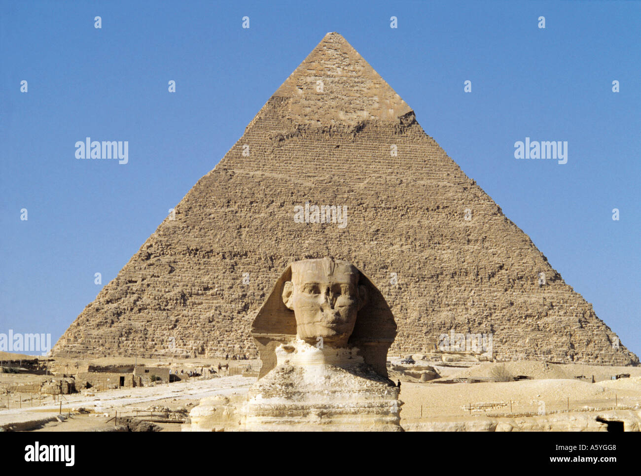 worksheet Sphinx Statue statue in front of pyramid the sphinx chephren giza cairo egypt