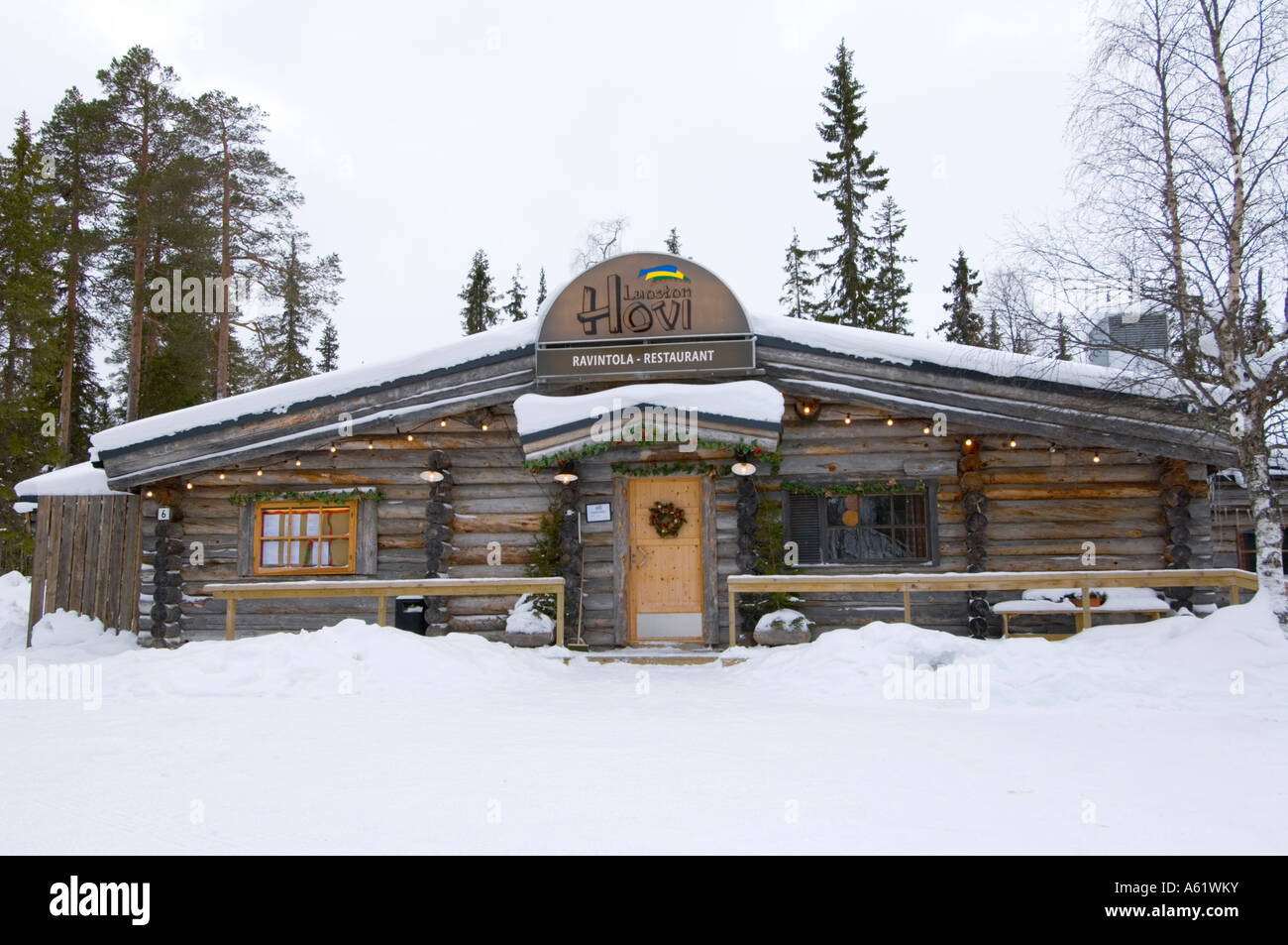 Cosy Log Cabin Restaurant Luosto Lapland Northern