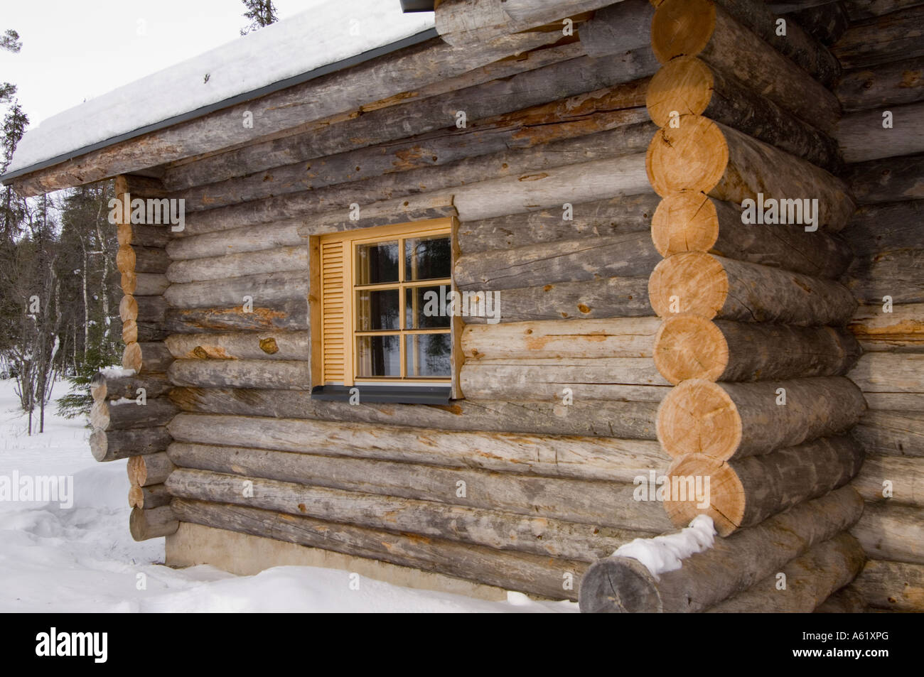 Log Cabin Luosto Lapland Northern Finland Europe