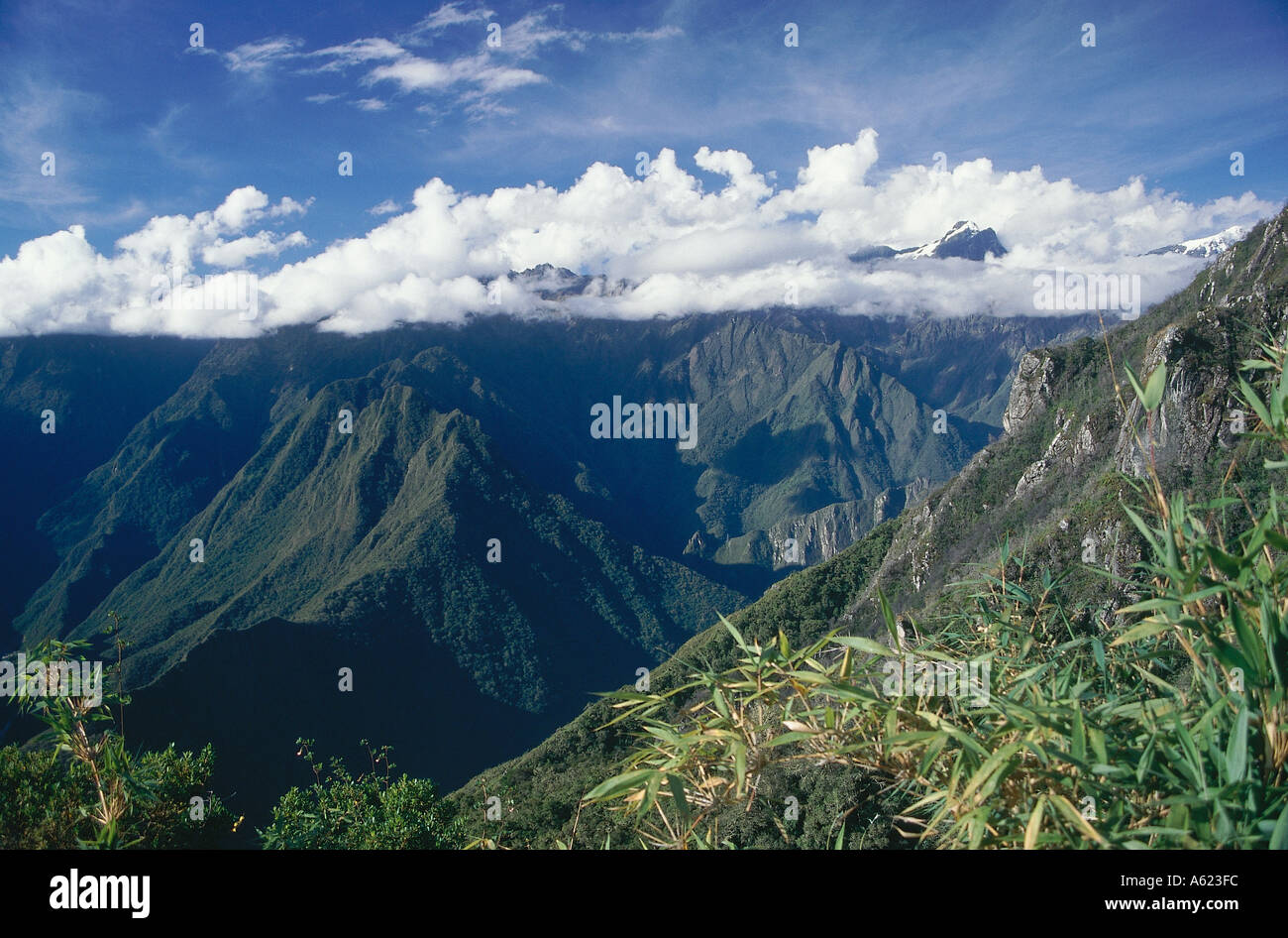 Mountain living near cusco peru royalty free stock photo -  Peru South America Andes Mountains Cusco Inca Trail Mountain View From Machu Pichu With Clouds Covering