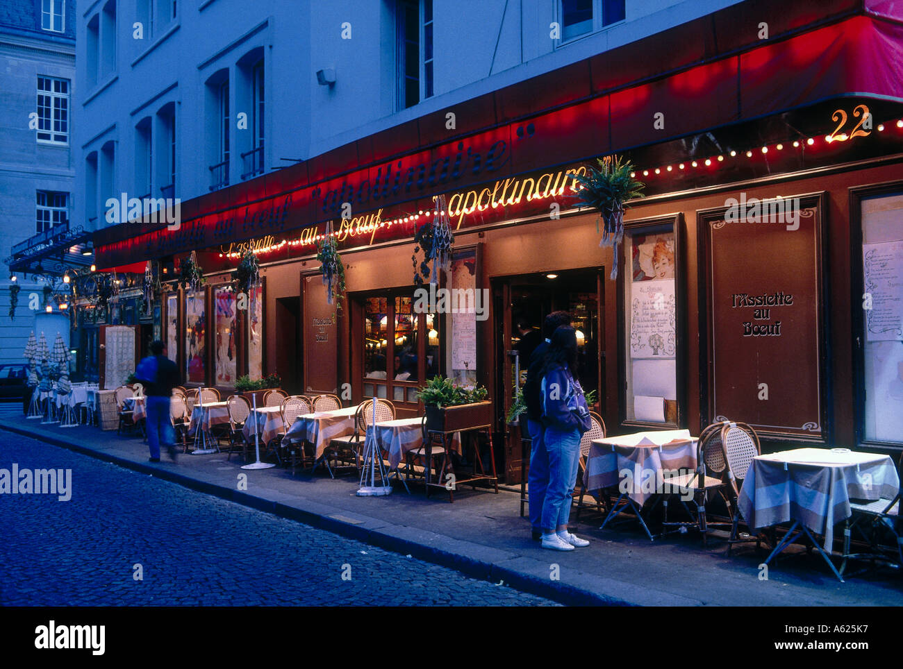 Facade of restaurant saint germain des pres paris ile for Restaurant jardin ile de france