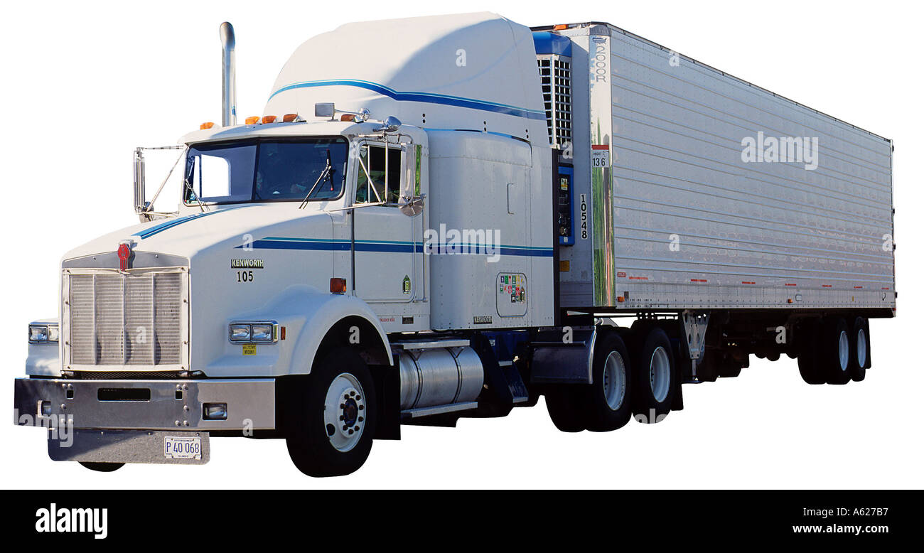 Tractor Trailer Stock : Semi tractor trailer parked stock photo royalty free