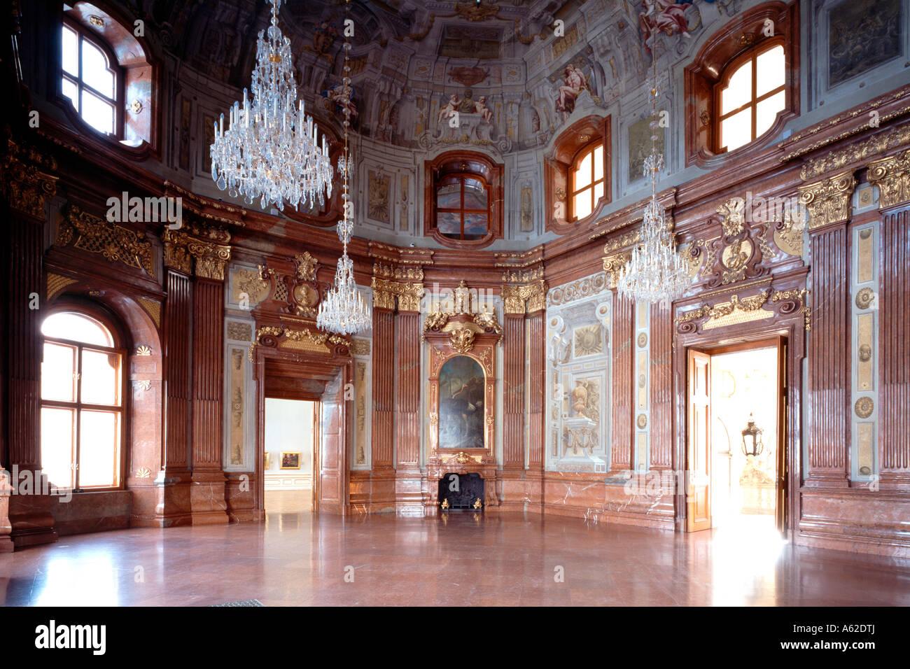 Wien Oberes Belvedere Marmorsaal Stock Photo Royalty