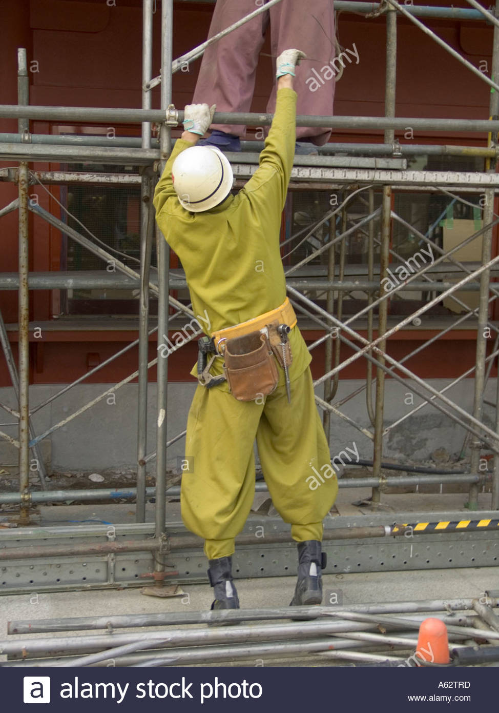 Traditional Construction construction workers in traditional construction clothing japan