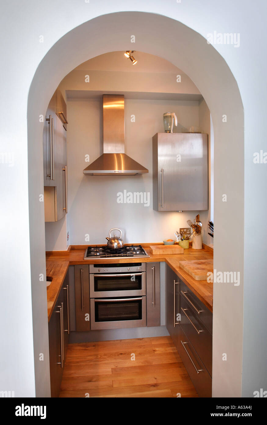 Small Fitted Kitchen A Small Fitted Kitchen Uk Stock Photo Royalty Free Image