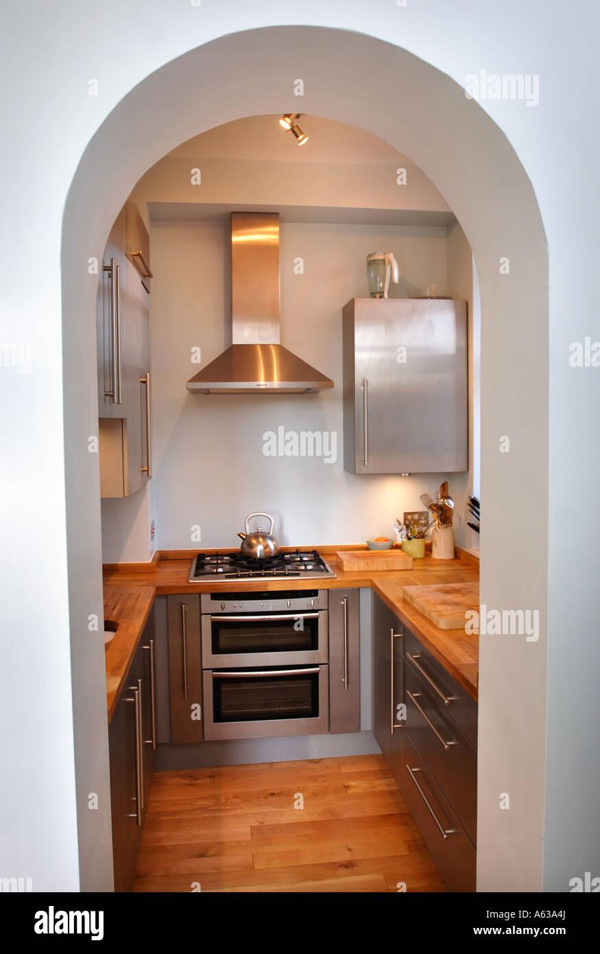 Small Fitted Kitchen A Small Fitted Kitchen Uk Stock Photo Royalty Free Image