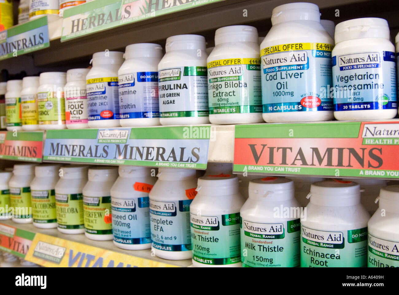 Vitamins and health supplements