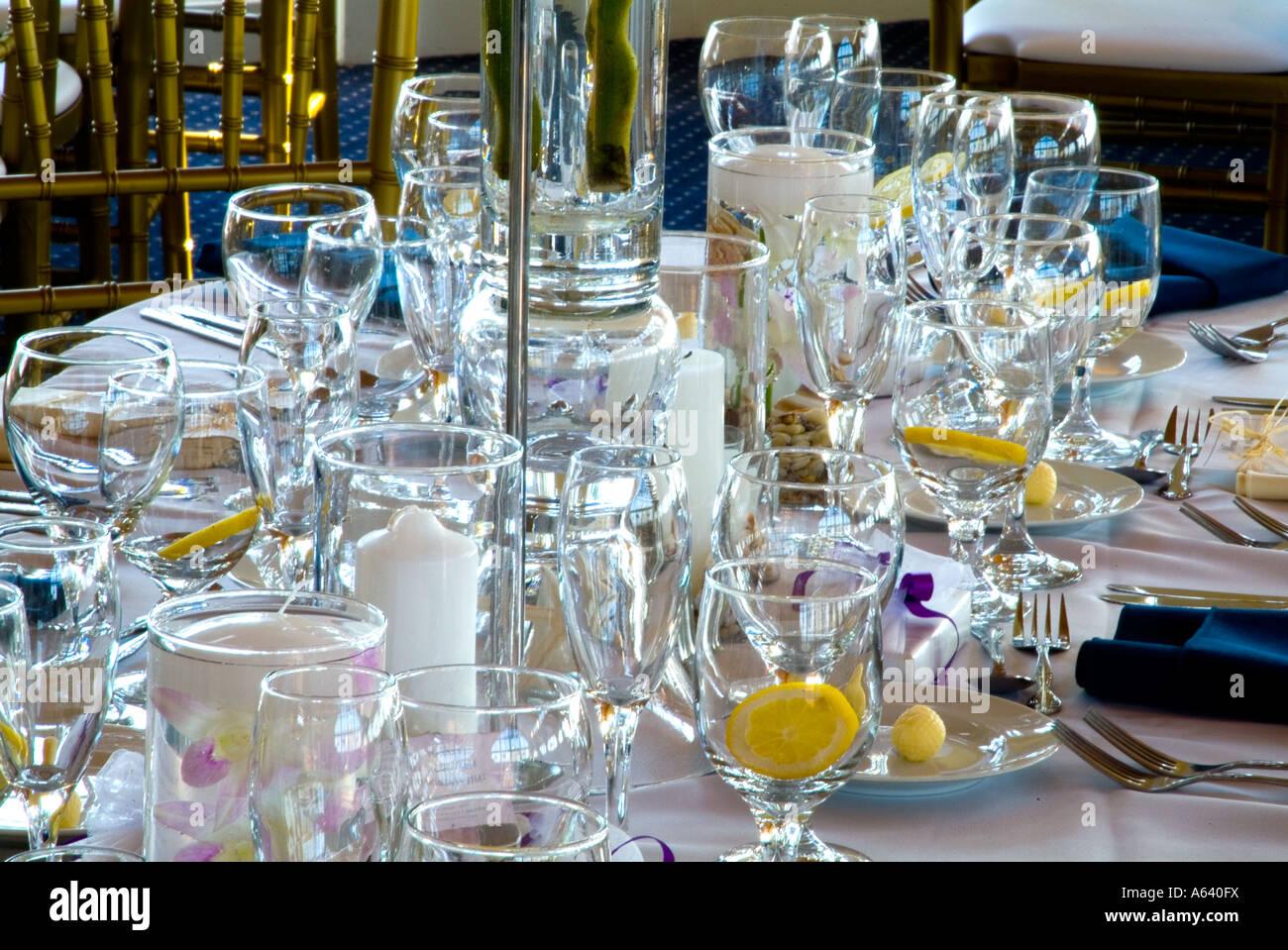Elegant Table Settings Elegant Table Settings At Wedding Banquet Reception Philadelphia