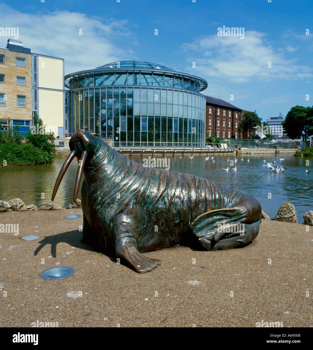 winter gardens sunderland walrus stock photo royalty free image