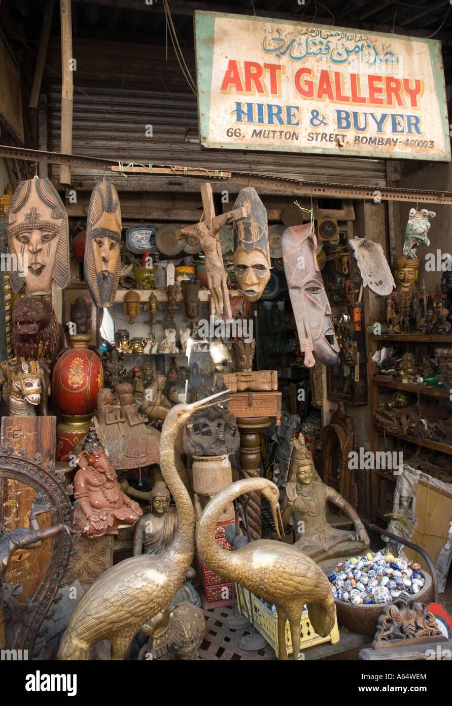 A shop in chor bazaar the largest antique flee market in for Furniture bazaar
