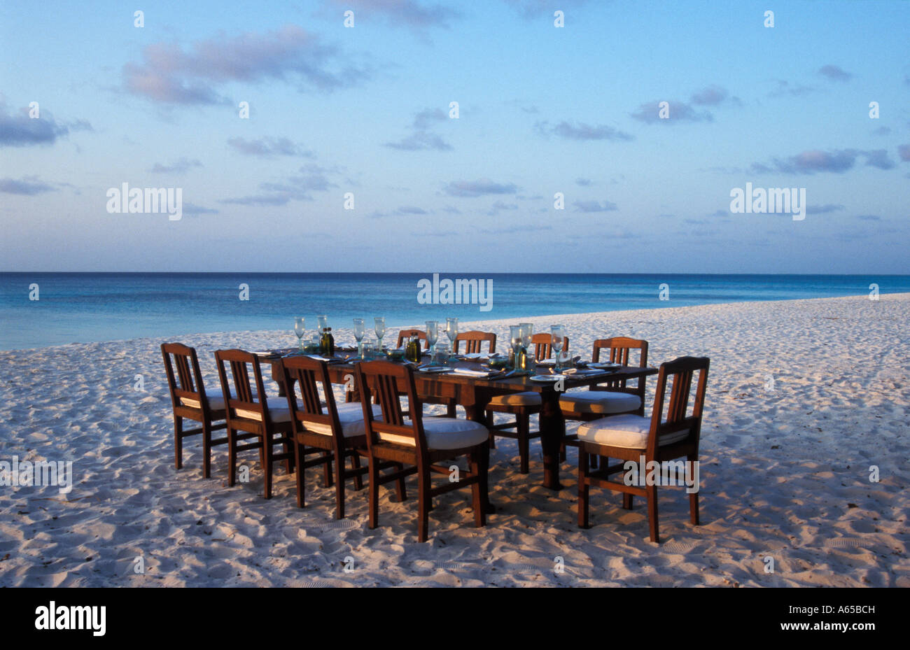 Dining Table On The Beach Mnemba Island Lodge