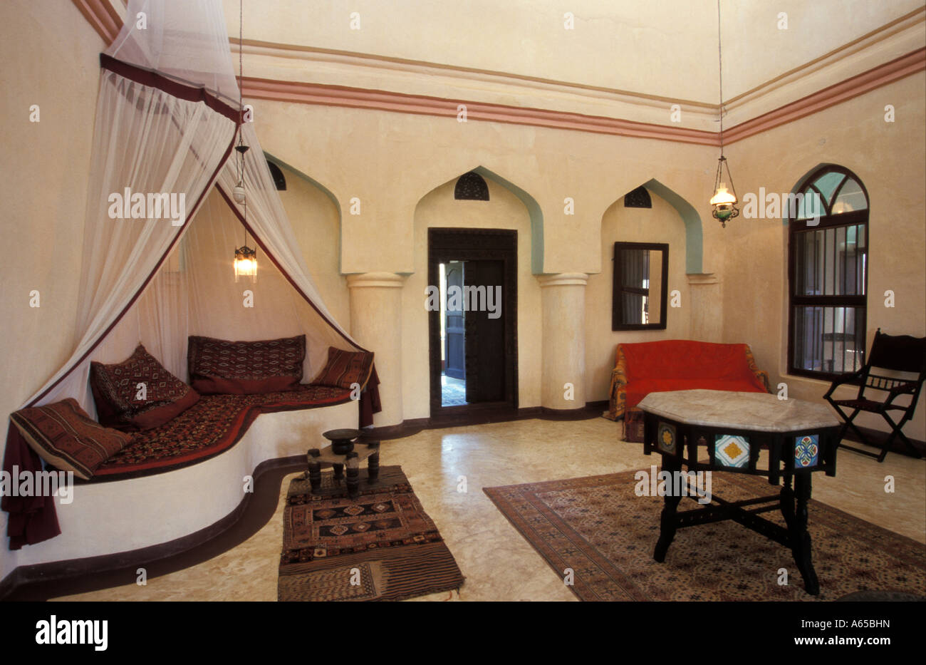 Traditional Swahili Room Interior With Antique Furniture
