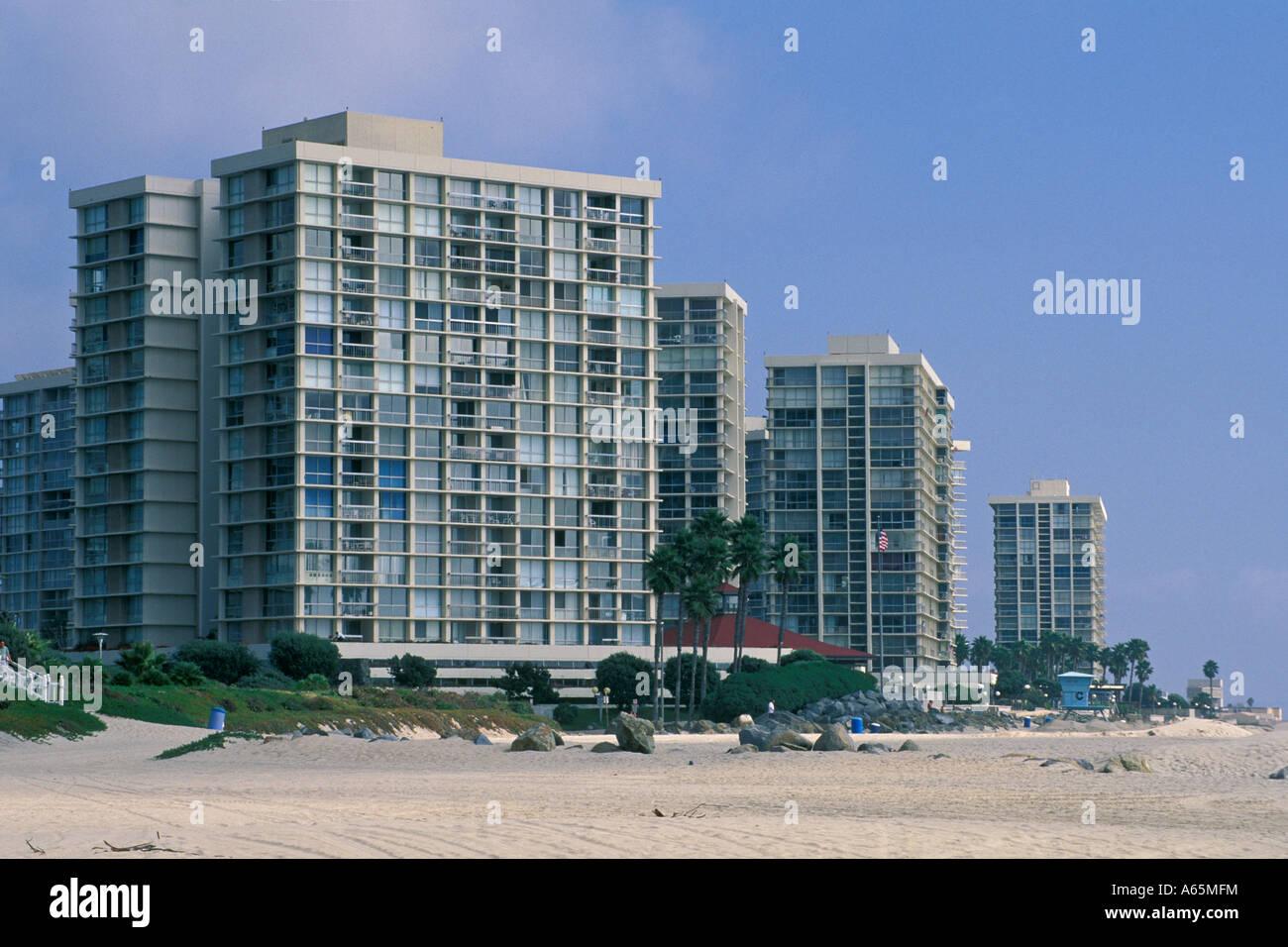 Apartment buildings along coronado beach coronado san - Apartment buildings san diego ...