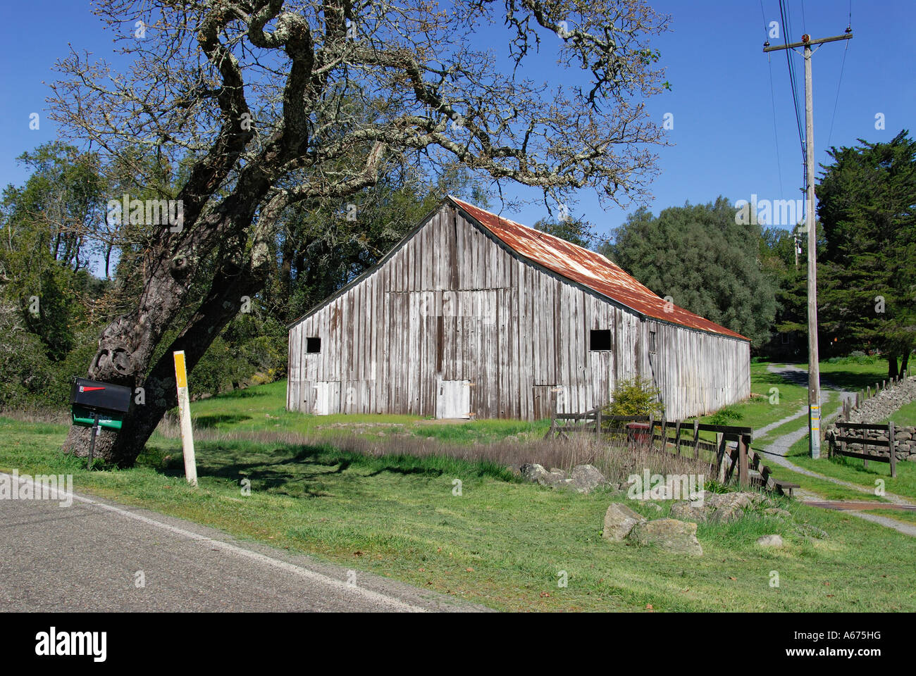 Old Wooden Barn Sonoma County California Stock Photo