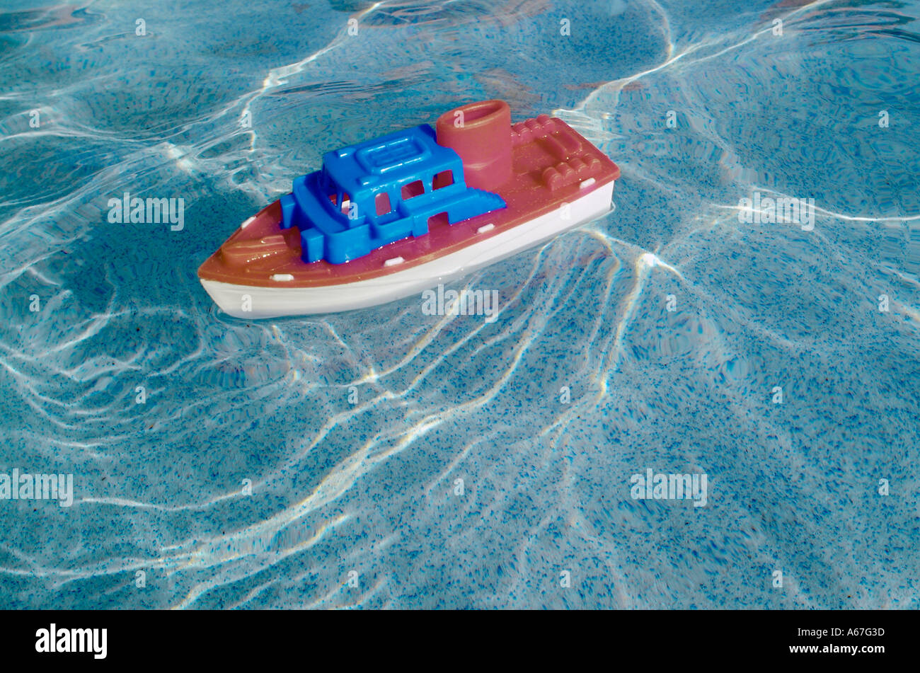Toy Plastic Boat In Swimming Pool Water Toys Boats Boating Stock Photo Royalty Free Image