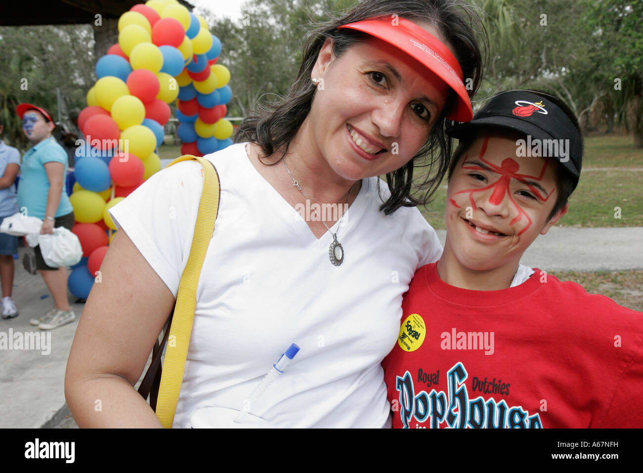 hispanic family activities. Miami Florida Kendall Family Festival Of The Arts Disabled Children Activities Hispanic Mother Son Down Syndrome