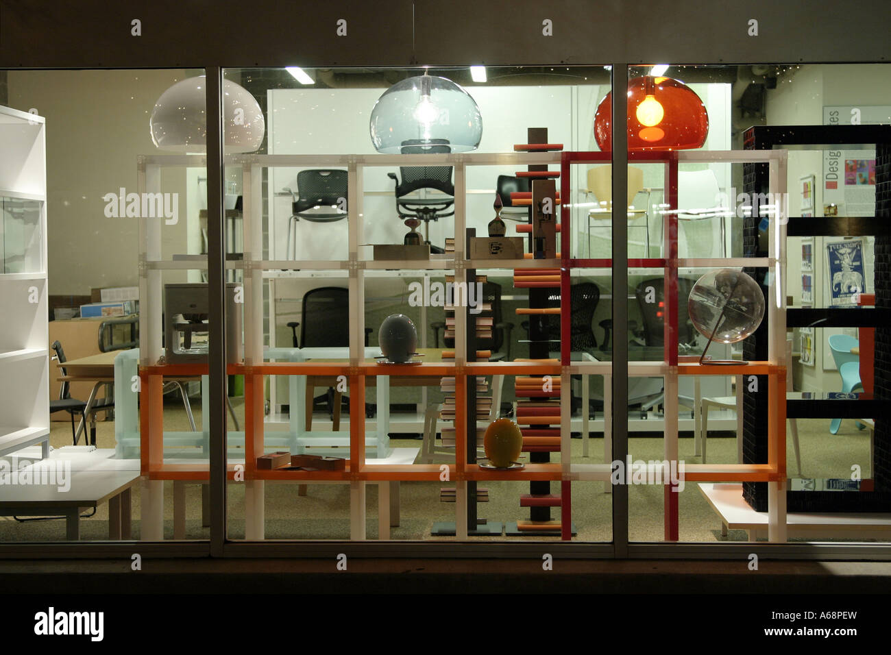 A Modern Furniture Storefront In Austin, Texas Stock Photo