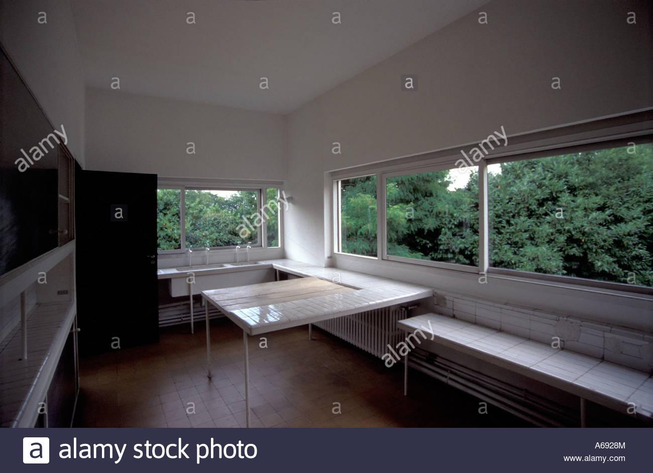 Le corbusier villa savoye interior - Kitchen Of Villa Savoye In Poissy Near Paris France By Swiss Architect Le Corbusier