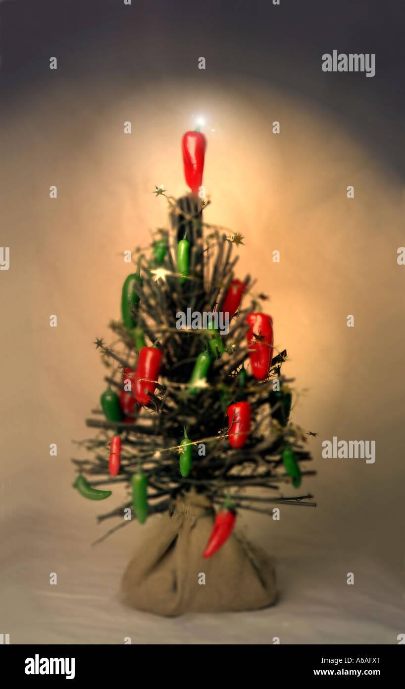 Chili Pepper Christmas Photo Album - Christmas Tree