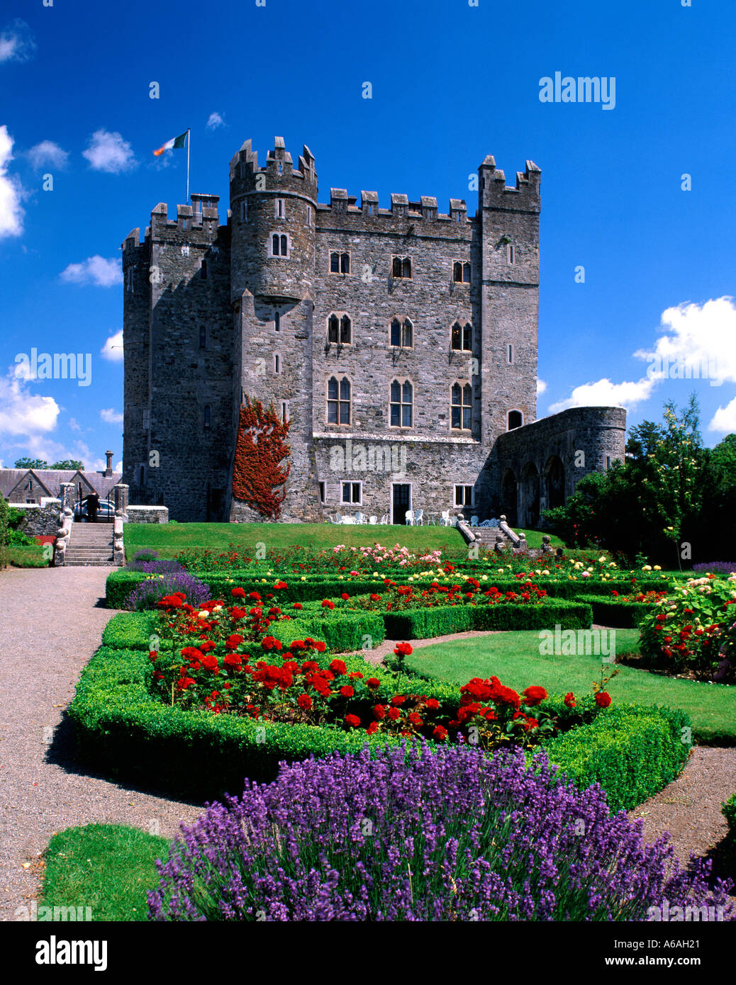 Kilkea Castle County Kildare Ireland Stock Photo