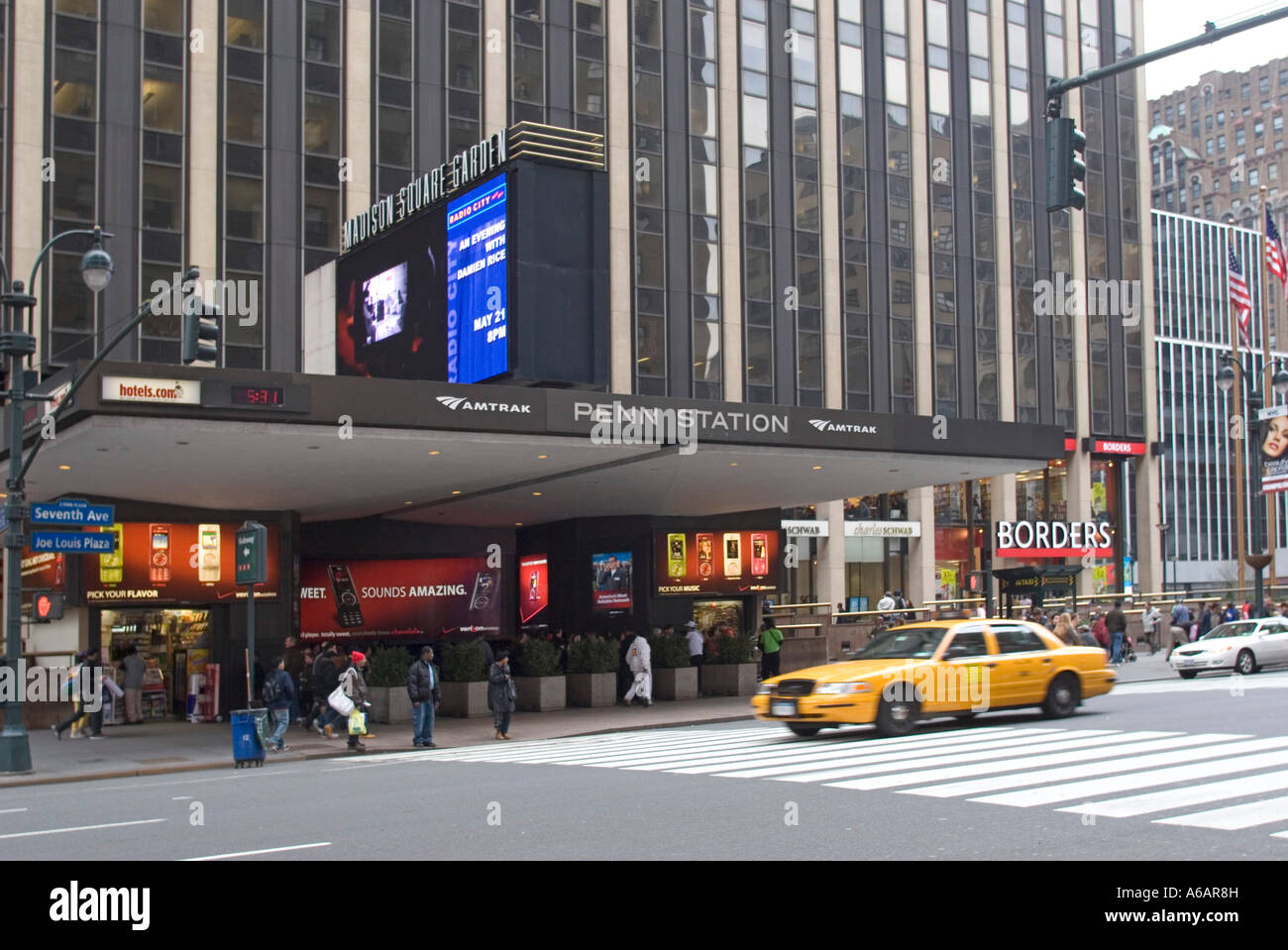 Penn Station And Madison Square Garden Seventh Avenue New York City Stock Photo Royalty Free