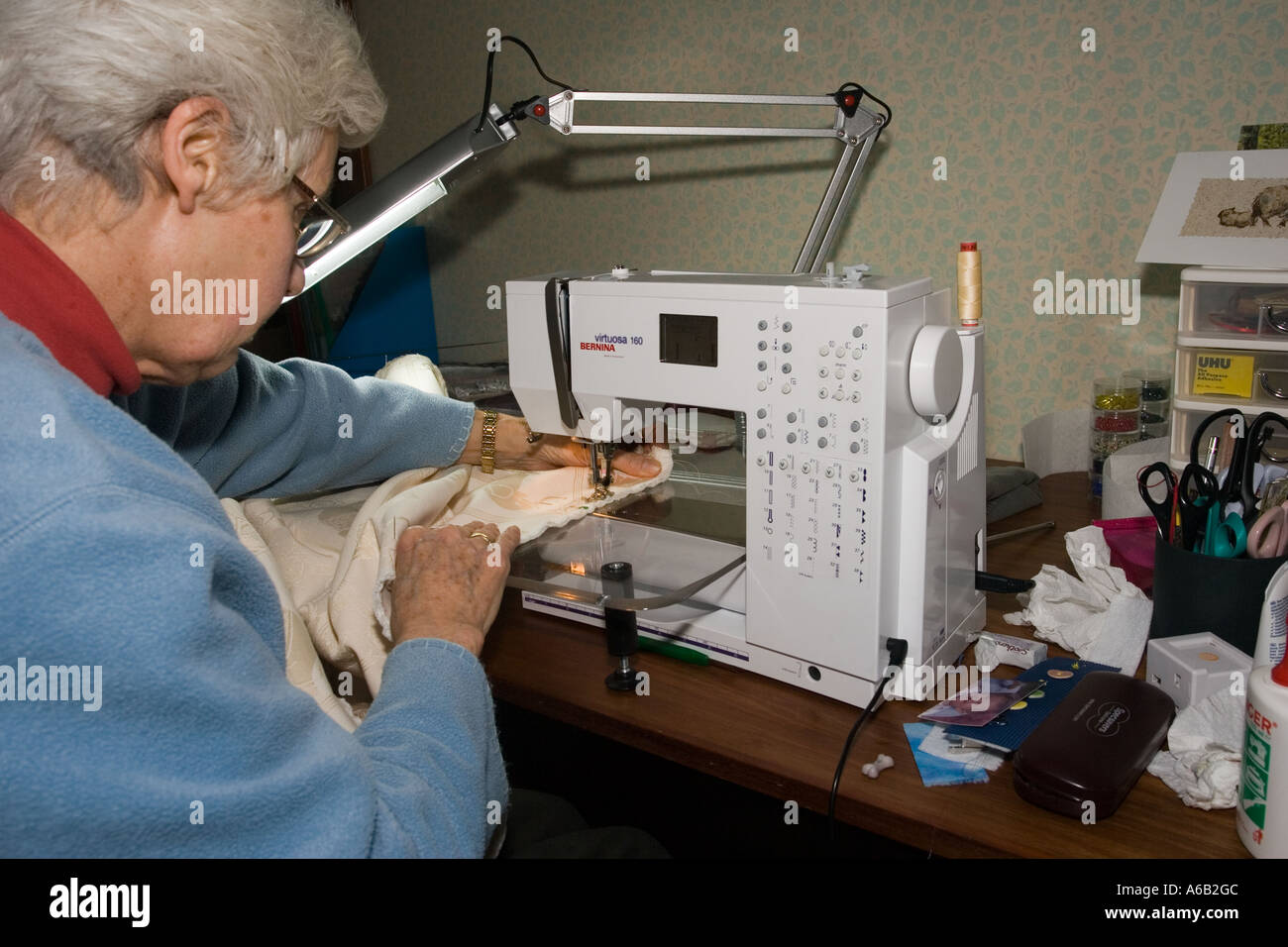 Seamstress making curtains on bernina virtuosa 160 electric sewing seamstress making curtains on bernina virtuosa 160 electric sewing machine fandeluxe Images