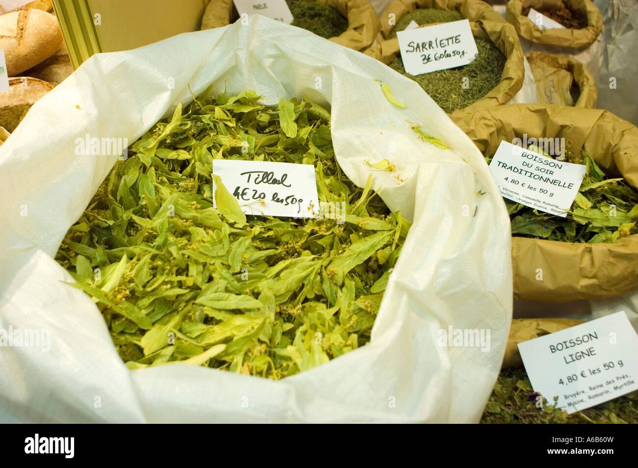 Bulk organic tea - Medicinal Herbs Organic Tea For Sale In Bulk Bin Items Paris Organic Foods Expo Tilleul Detail Leaves Detail