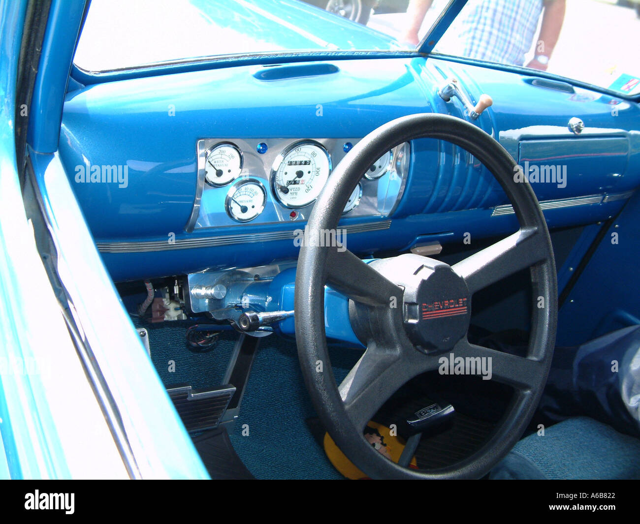 1941 chevrolet pickup truck interior blue paint stock photo royalty free image 440354 alamy. Black Bedroom Furniture Sets. Home Design Ideas