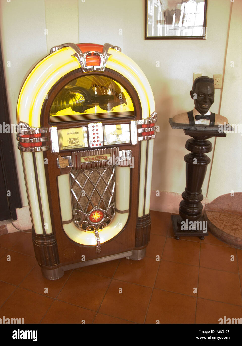 Hotel Internacional Cuba Havana Jukebox Installed In Bar Of Hotel Internacional Stock