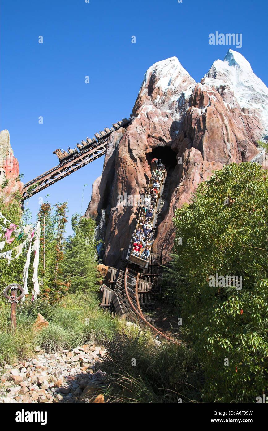 Roller coaster expedition everest legend of the forbidden mountain animal kingdom disney world orlando florida usa
