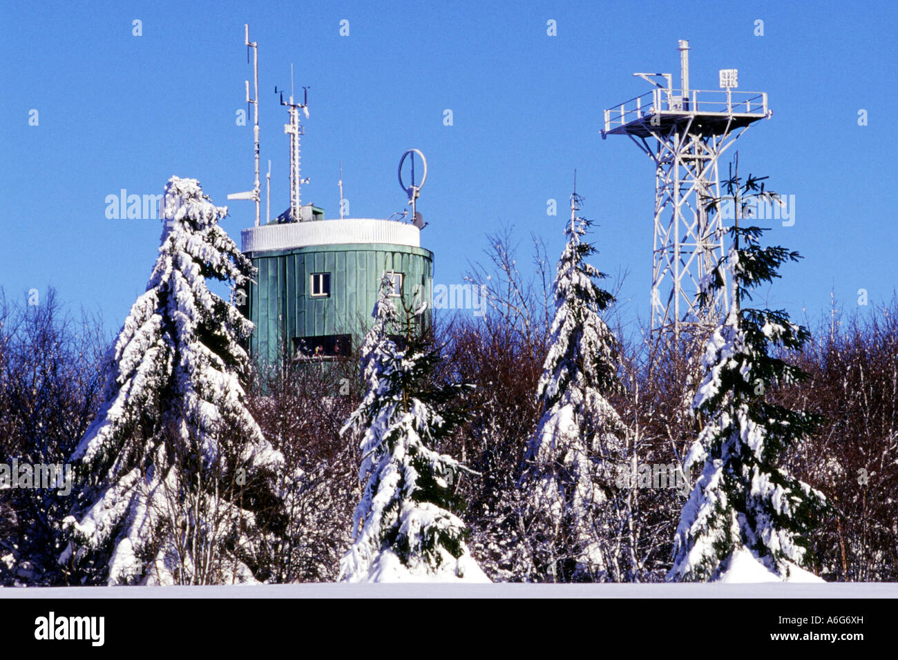 meterological garden and weather station germany north stock
