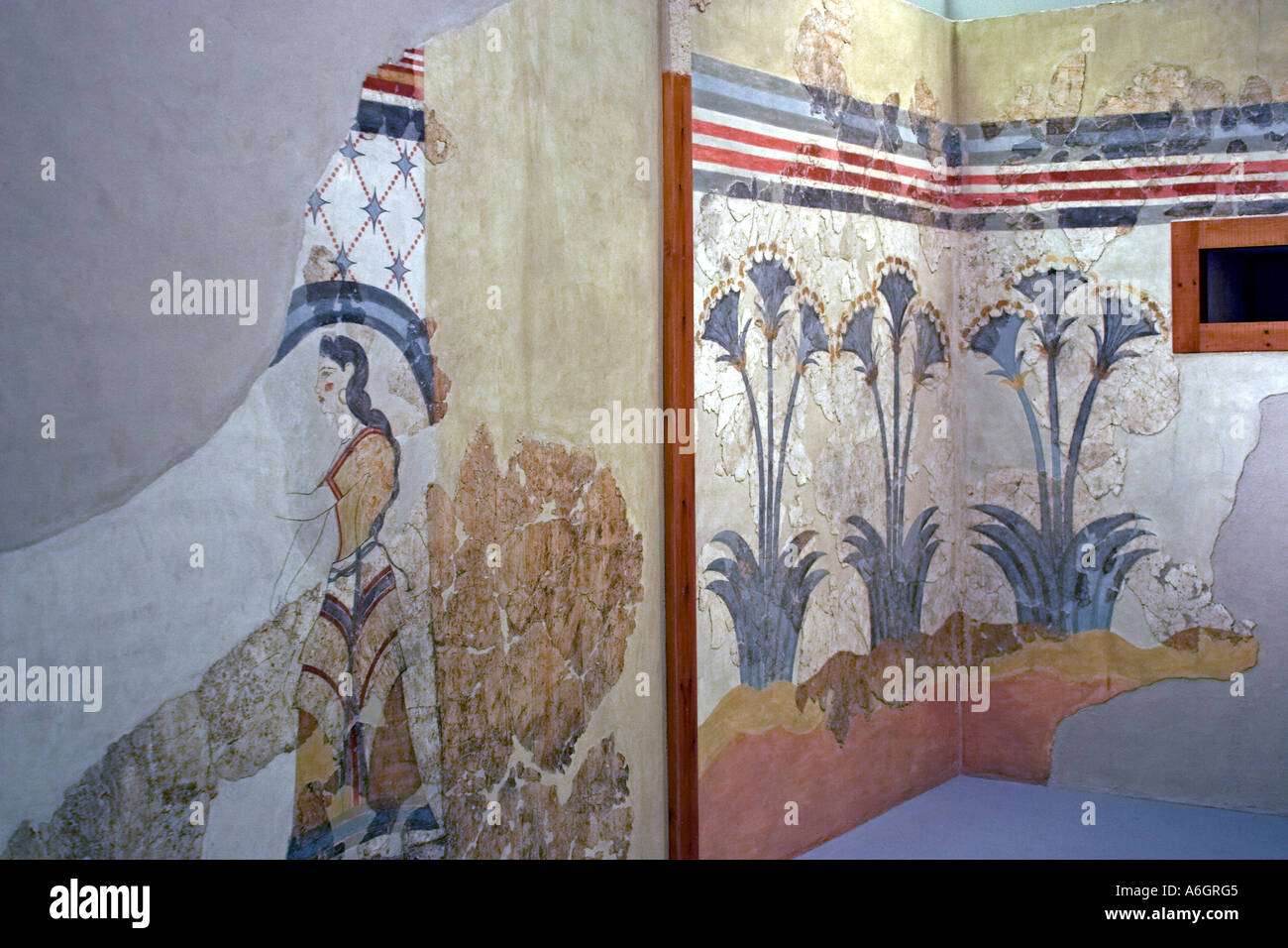 Old painted wall mural painting of pithos with animals late old painted wall mural painting of pithos with animals late cycladic 17c bc amipublicfo Image collections