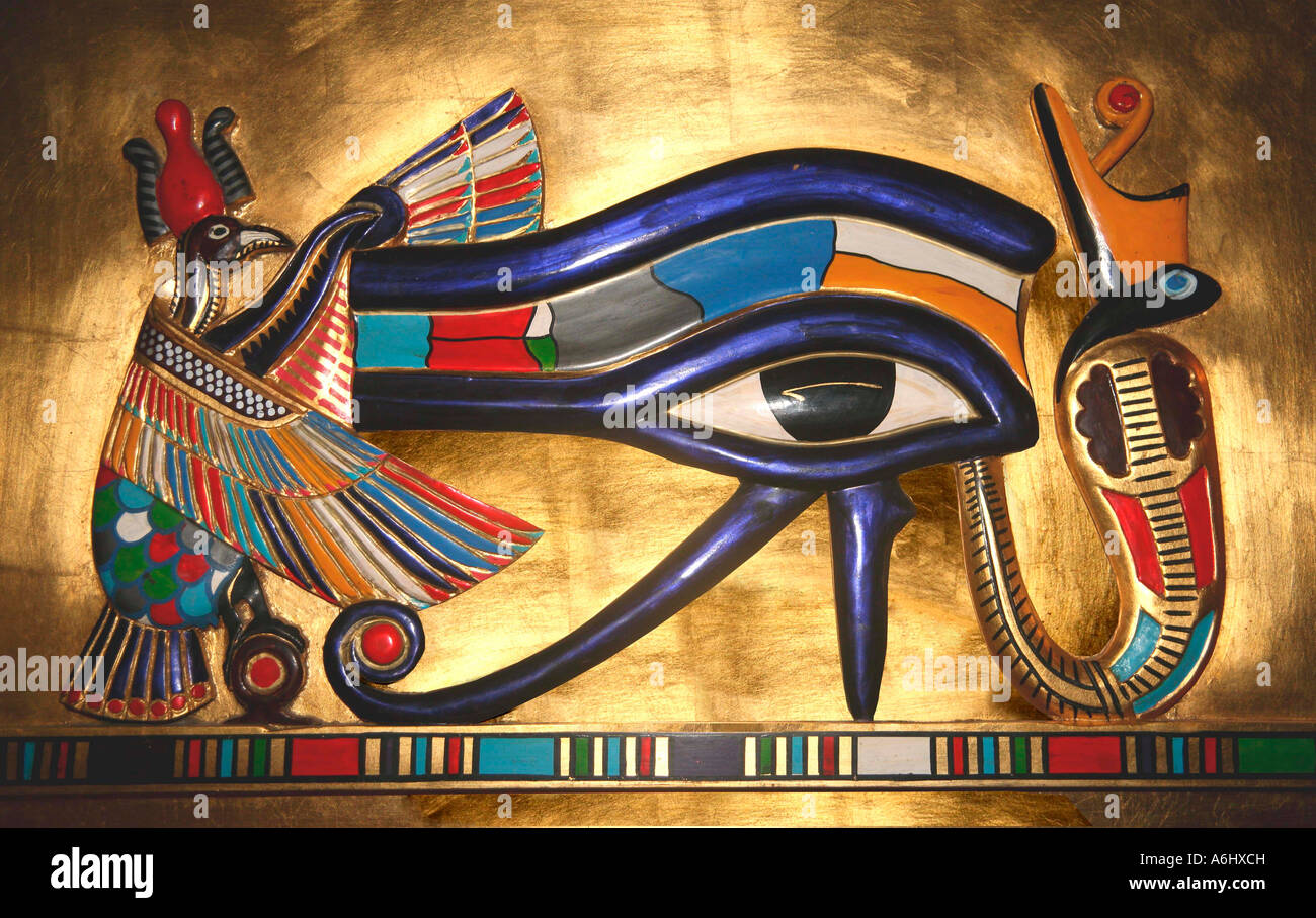 Udjat the Eye of Horus the falcon god worshipped in ...