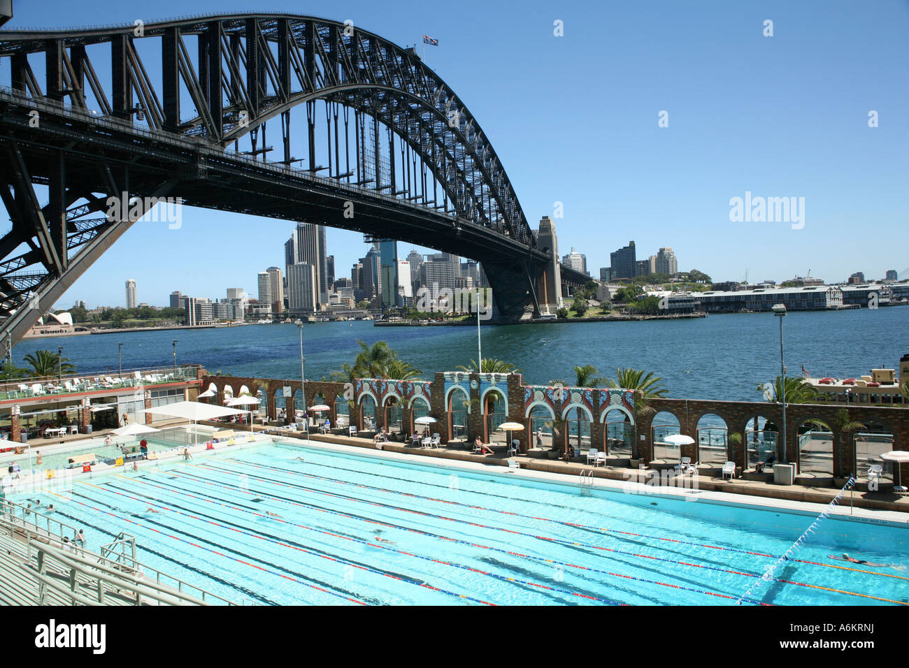 North sydney olympic pool and harbour bridge sydney for Piscine olympique