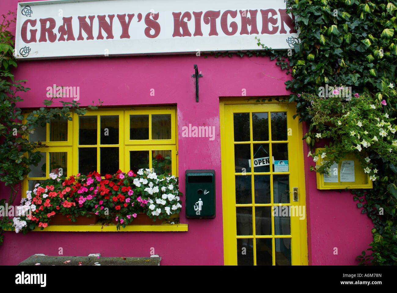 Granny\'s Kitchen a small colorful restaurant and coffee house Stock ...