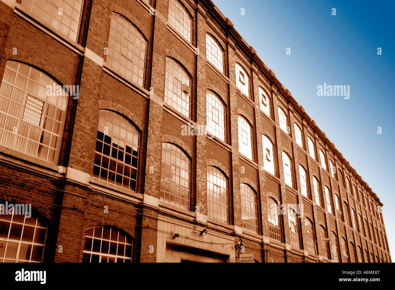 old victorian warehouse east london showing windows england uk