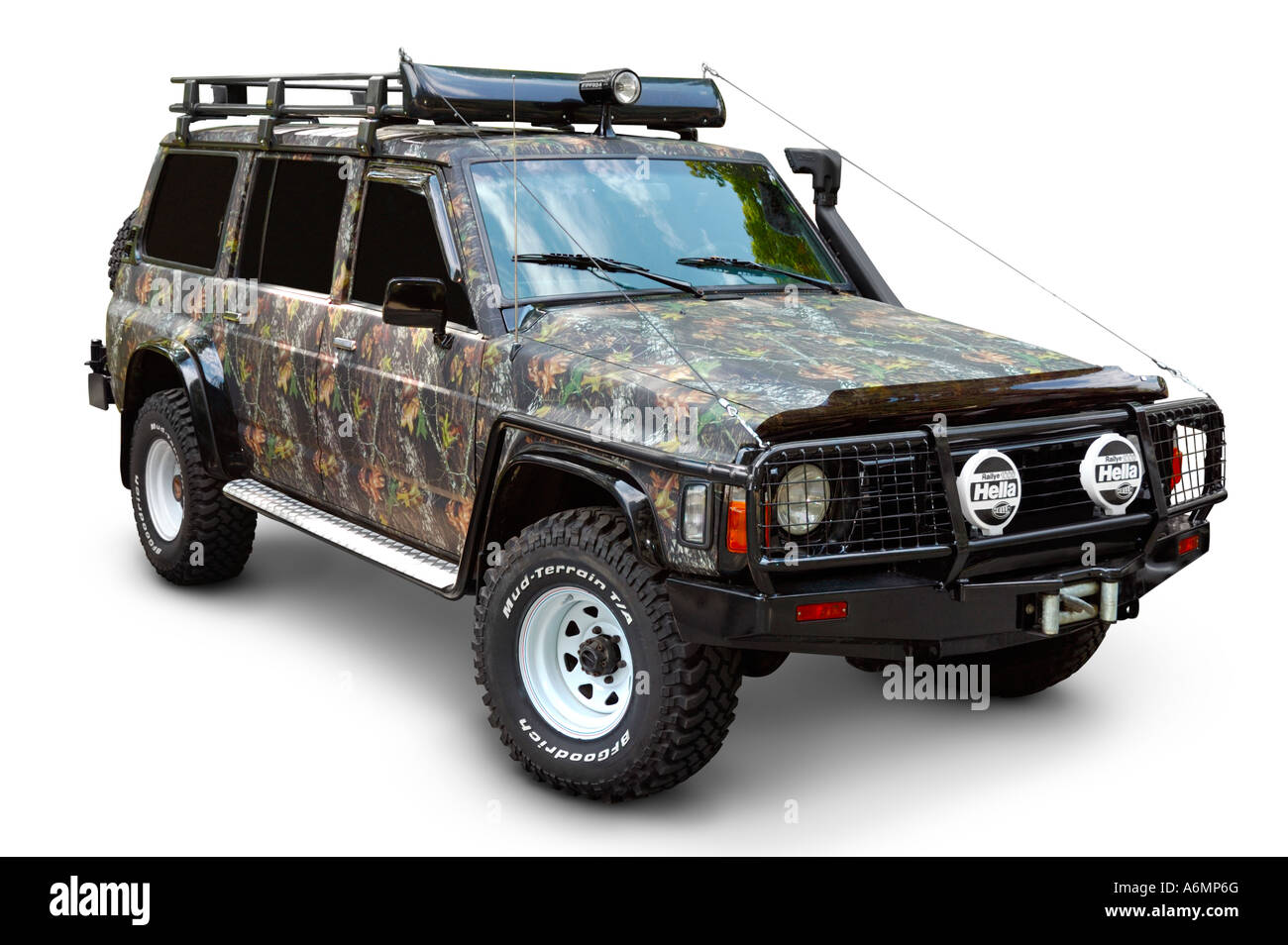 camouflaged and tuned nissan patrol 1997 4x4 stock photo royalty free image 11610663 alamy. Black Bedroom Furniture Sets. Home Design Ideas