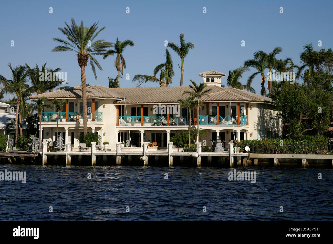 Fort Lauderdale FL Florida Intracoastal Waterway Ship White Yachts - Before and after from a mediterranean house fort lauderdale