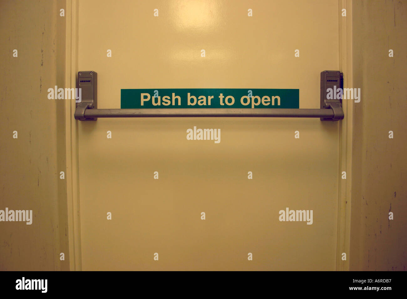 emergency fire escape door with push bar & emergency fire escape door with push bar Stock Photo: 2162102 - Alamy