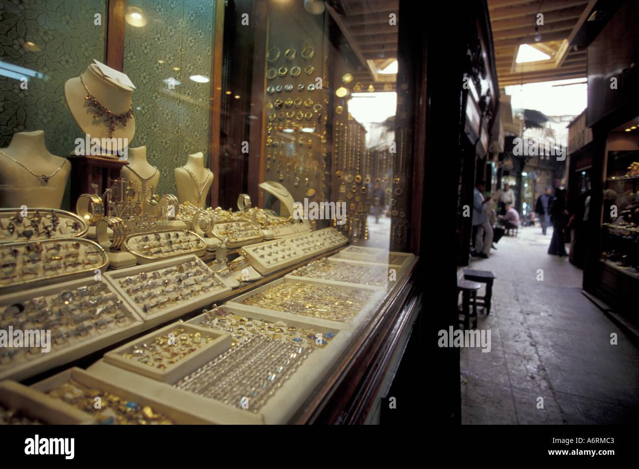 Africa egypt cairo khan al khalili bazaar gold jewelry for Cairo outlet