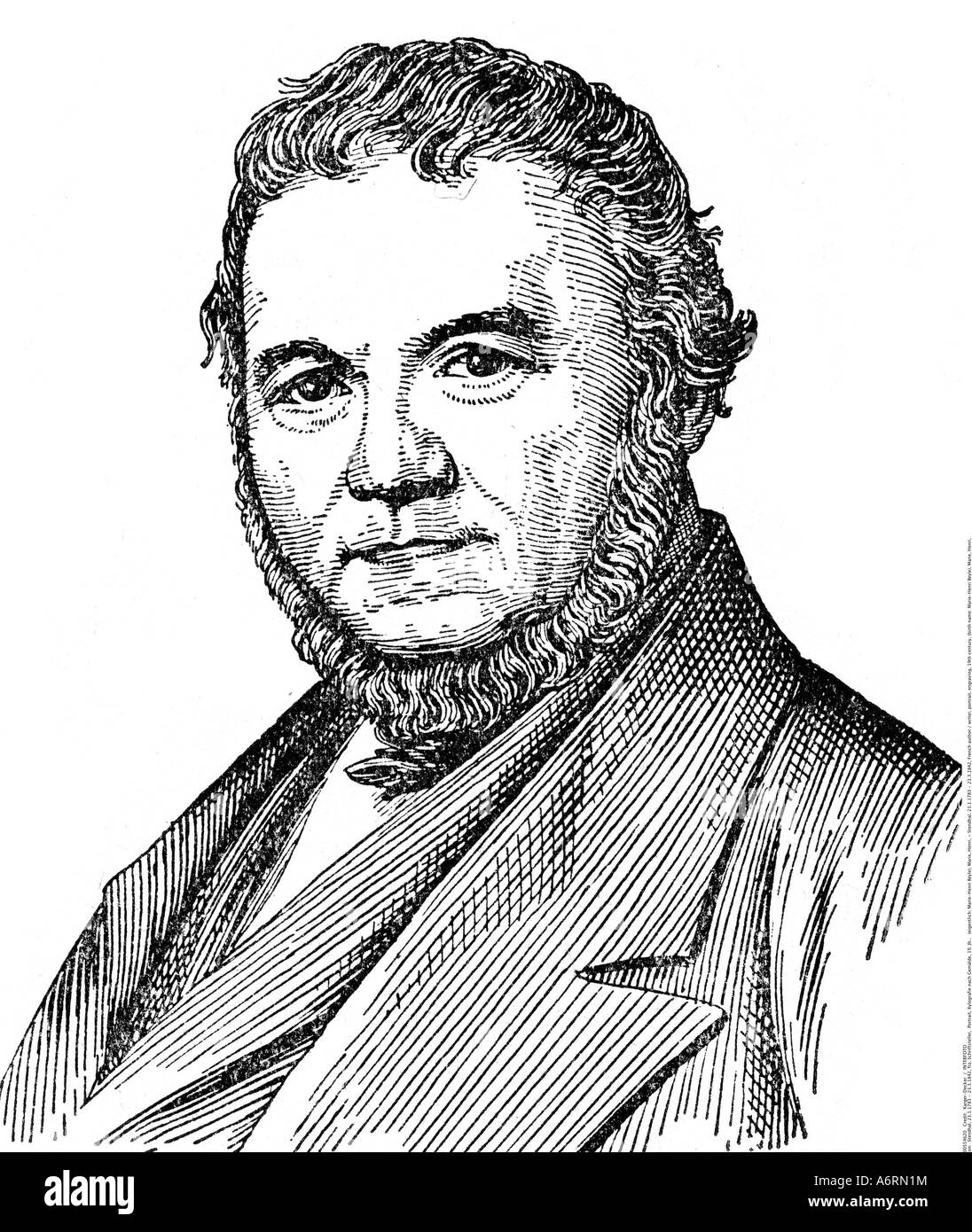 stendhal french author writer portrait stendhal 23 1 1783 23 3 1842 french author writer portrait engraving 19th century birth marie henri beyle mar