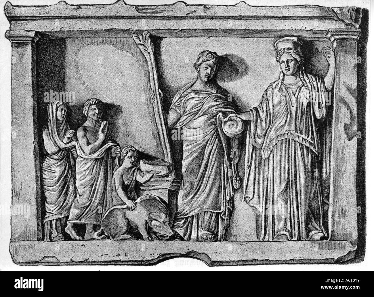 ancient world, Greece, religion, sacrifice for Goddess ...