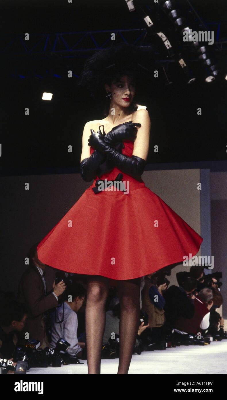 fashion 1980s mannequin full length wearing dress. Black Bedroom Furniture Sets. Home Design Ideas