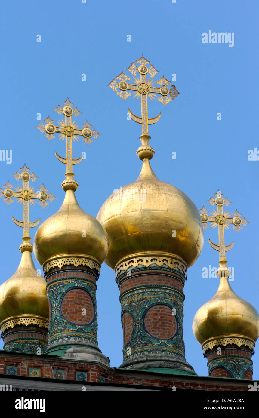 Spectacular Roof Spires Of The Terem Palace In The Kremlin Moscow Russia