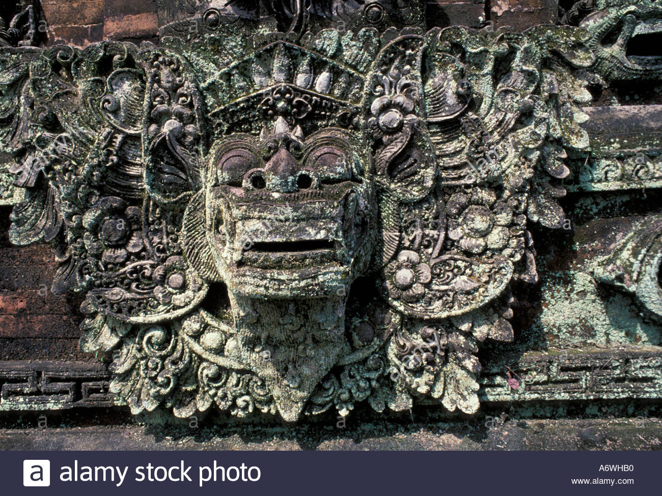 Asia indonesia bali stone wall carvings stockfoto