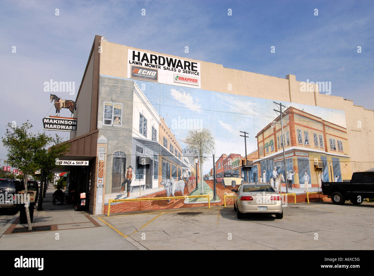 Famous artistic painted murals on buildings in historic for 6 blocks from downtown mural