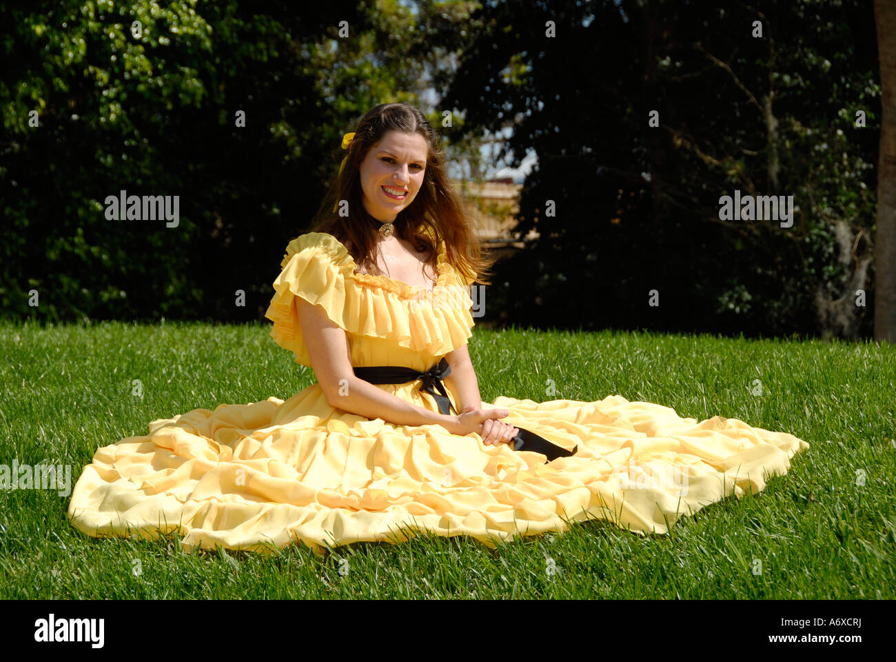 southern belles at cypress gardens winter haven florida us stock