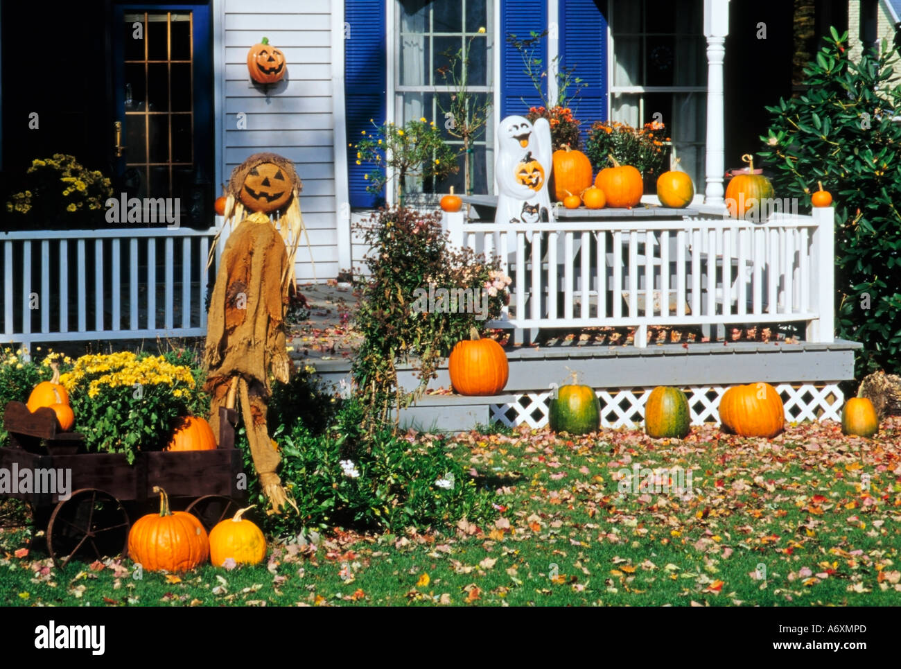 halloween decorations millerton dutchess county new york state usa